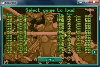 [11/01/2011] Load Game screen