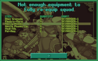 [07/05/2013] Not enough equipment to reequip squad